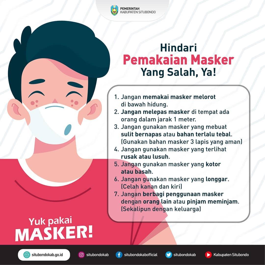 Hindari Pemakaian Masker Yang Salah