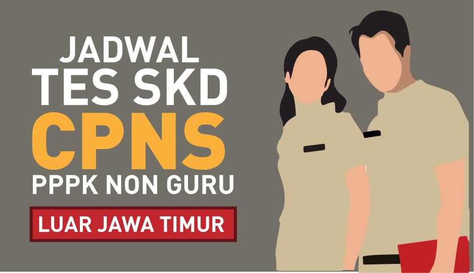 Pengumuman Jadwal Lokasi Ujian SKD CPNS dan Seleksi Kompetensi PPPK Non Guru (Luar Jatim)