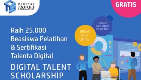 Kementerian Kominfo Buka Peluang Beasiswa Digital Talent 2019 (GEL. I)